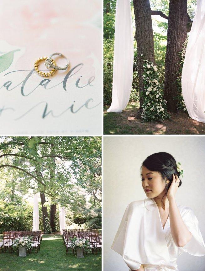 bröllop med utomhusvigsel