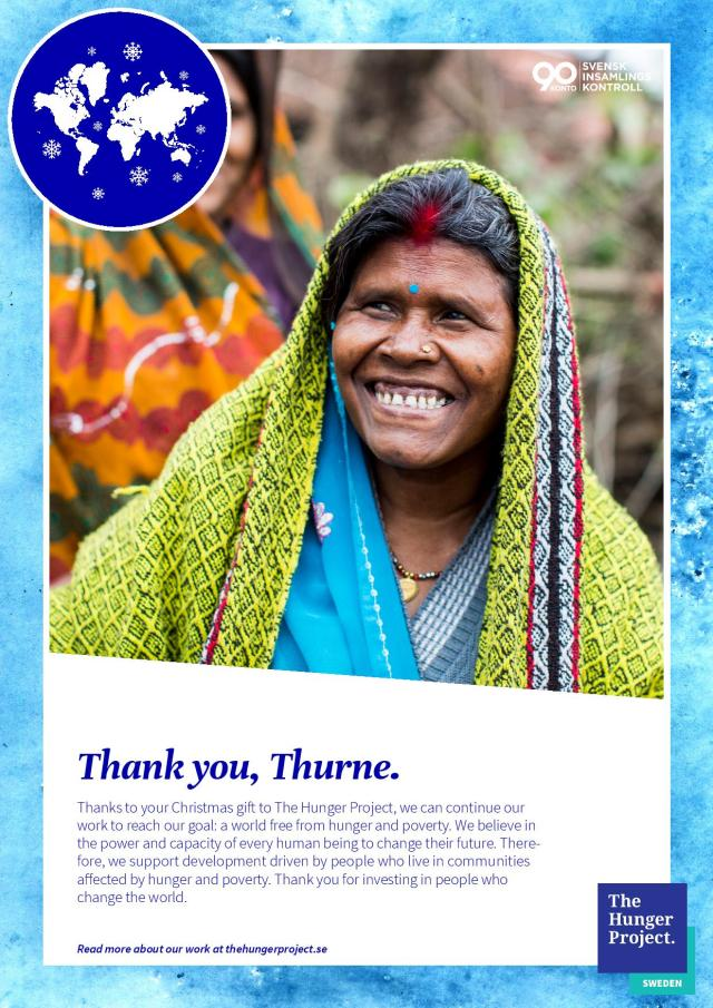 Thank you from The Hunger Project