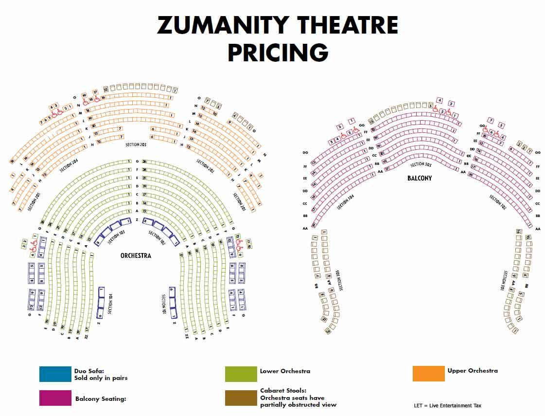 Ka Theatre Seat Map Numbers