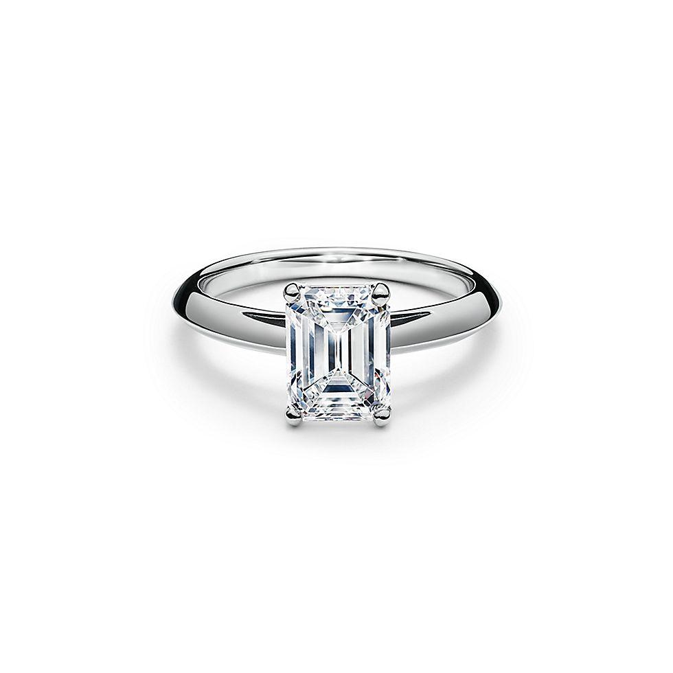 emerald cut diamond engagement