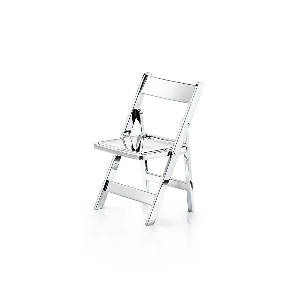 Tiffany Blue Chair Sterling Silver Mini Folding Chair