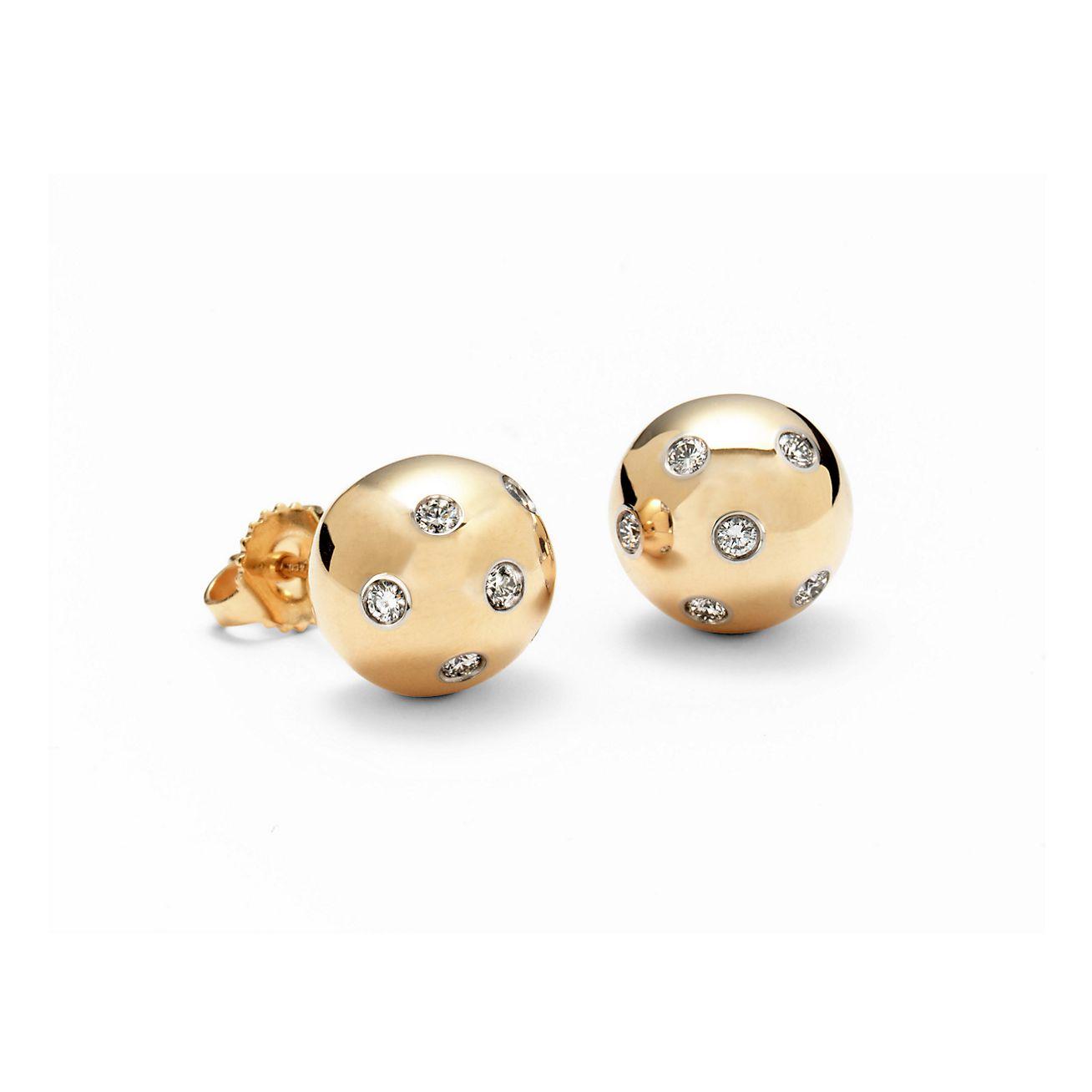 tiffany silver ball earrings uk