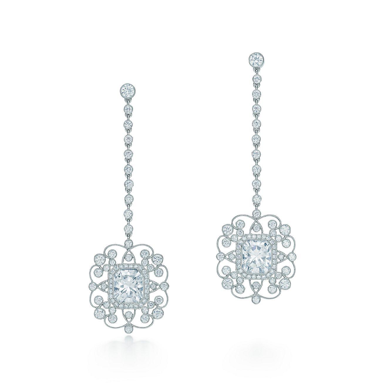tiffany and co diamond drop earrings