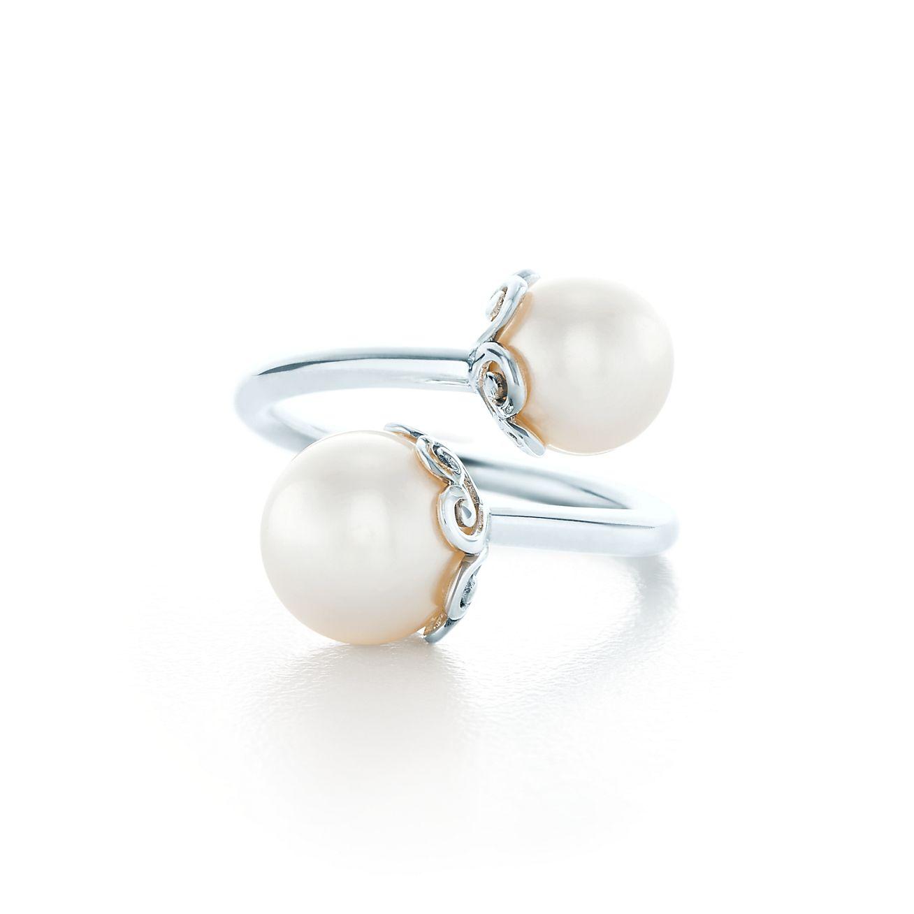 Palomas Venezia Goldoni Heart Pearl Ring In Sterling
