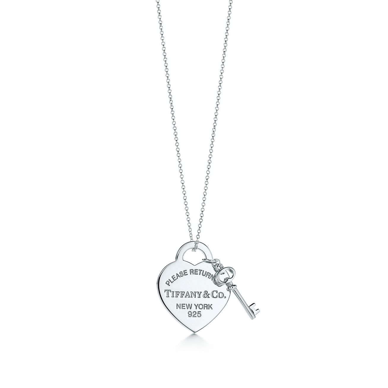 Return to Tiffany™:Heart Tag with<br>Key Pendant