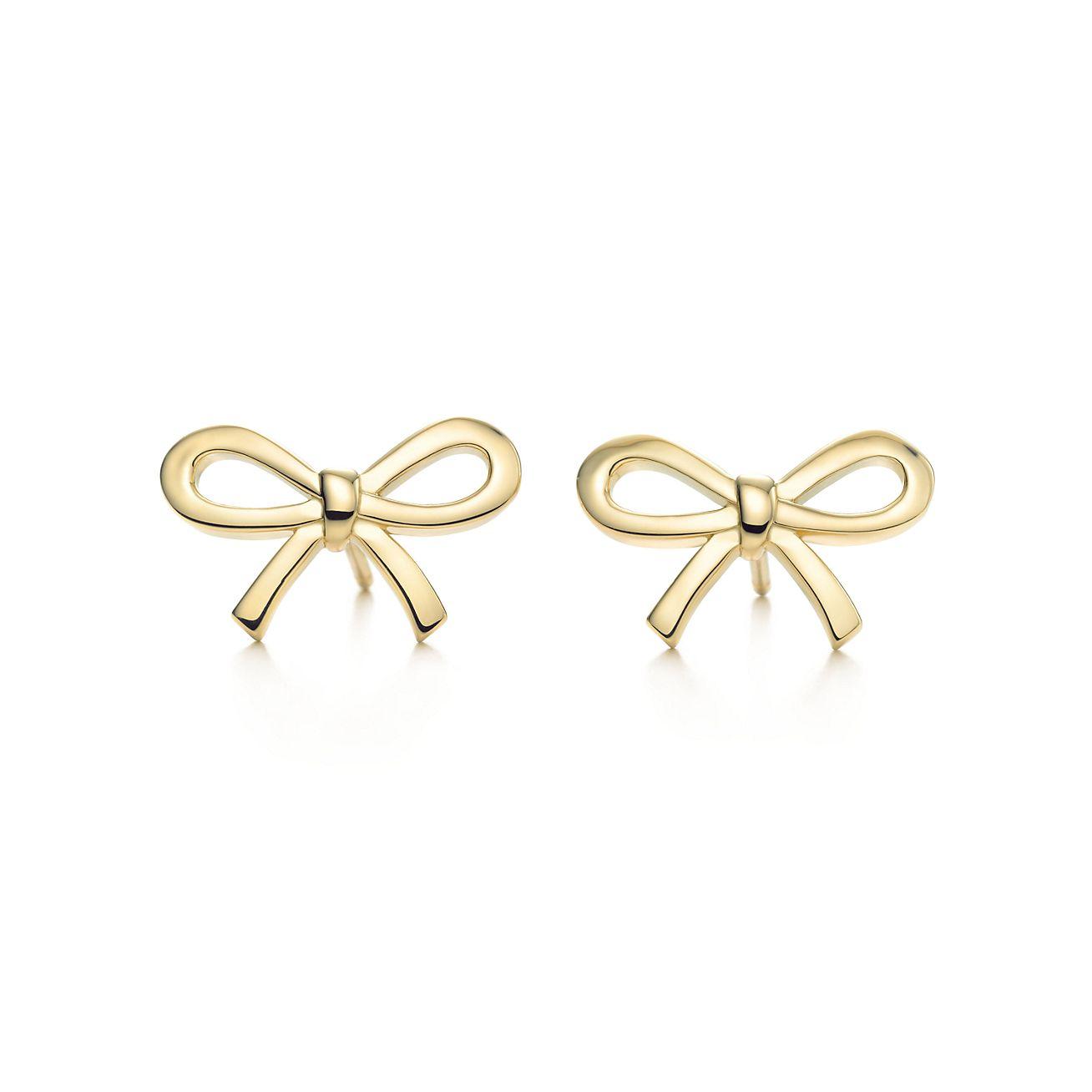 Tiffany Bow earrings in 18k gold.