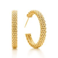 Tiffany Somerset narrow hoop earrings in 18k gold, medium ...