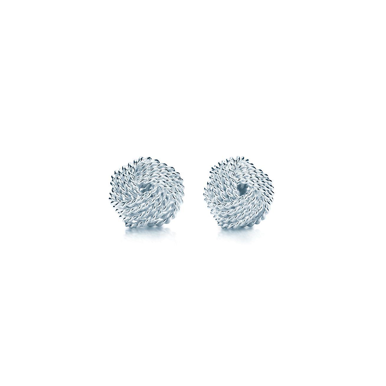 Tiffany Twist knot earrings in sterling silver.