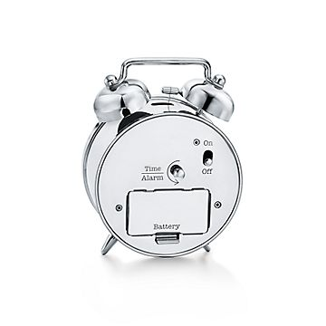 Twin Bell Alarm Clock In Nickel