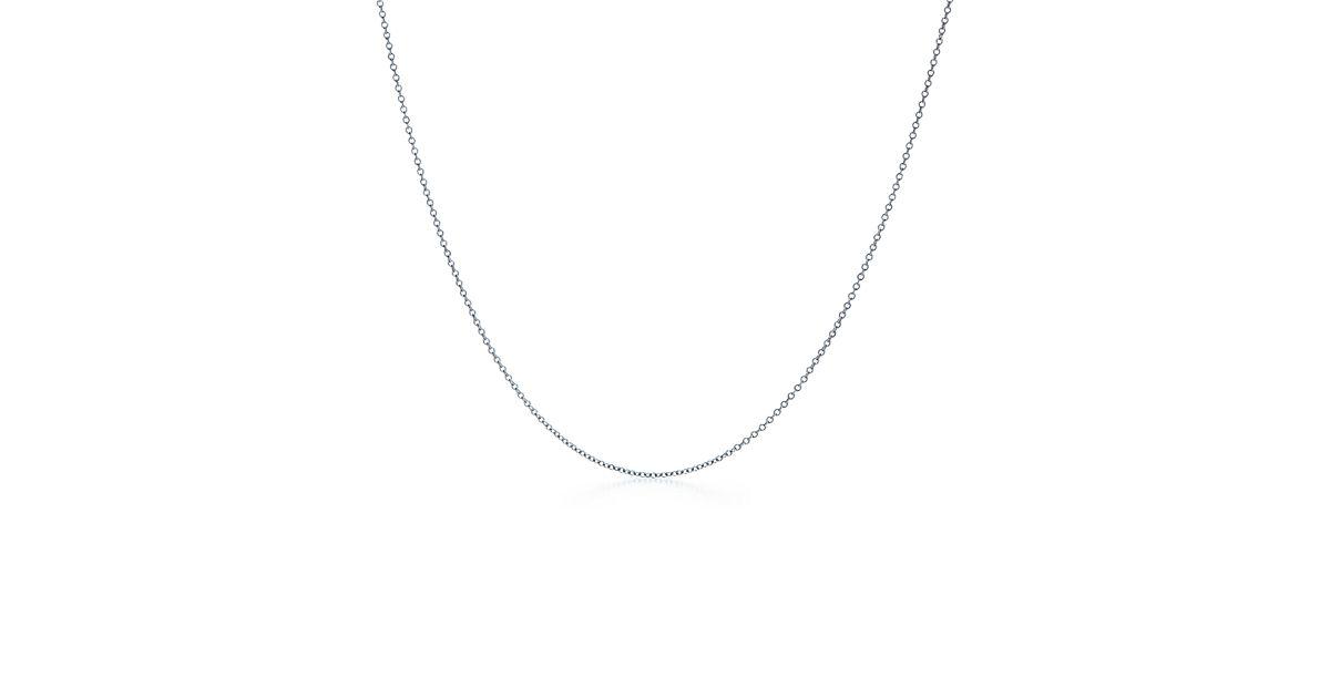 Kette aus 18 kt Weigold 51 cm lang  Tiffany  Co