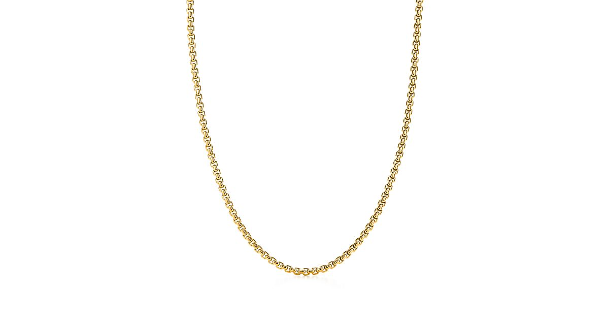 Mens 18K Gold Square Link Necklace Tiffany Amp Co