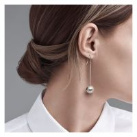 Tiffany Co Silver Ball Earrings