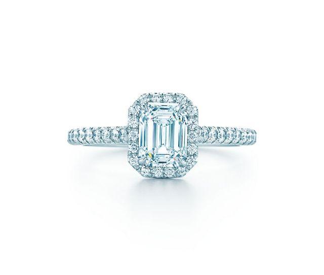 Emerald Cut Diamond Engagement Rings Tiffany Soleste Engagement Rings Tiffany Co