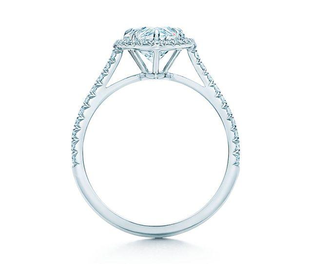 Tiffany Soleste Pear Shaped Diamond With Diamond Band Engagement Rings Tiffany Co