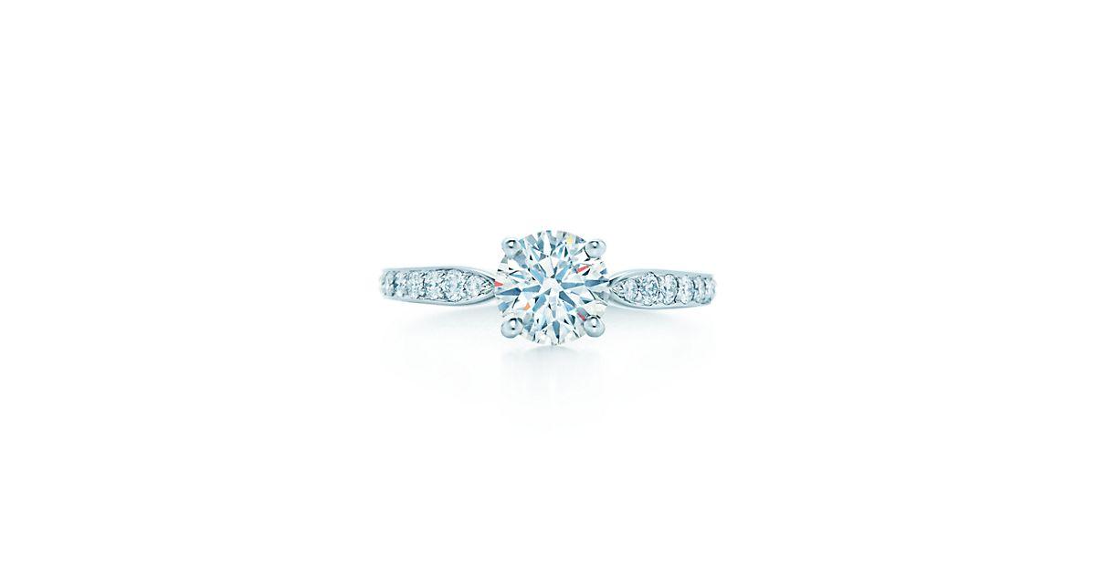 Tiffany Harmony With Bead Set Band Engagement Rings