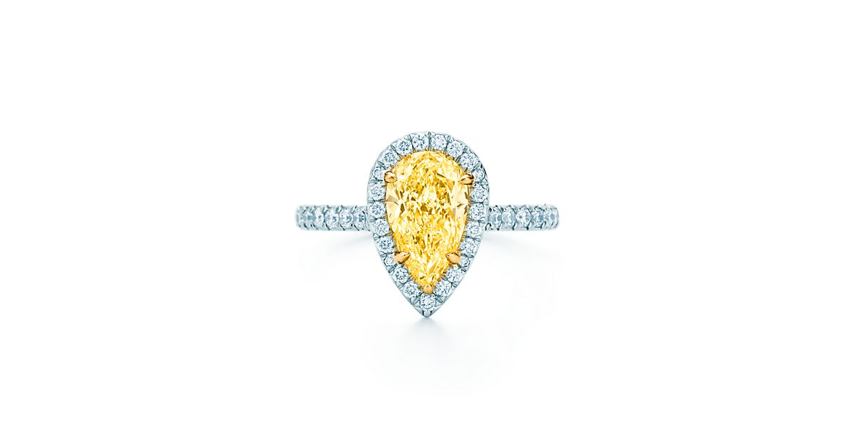Tiffany Soleste Pear Engagement Rings Tiffany Amp Co