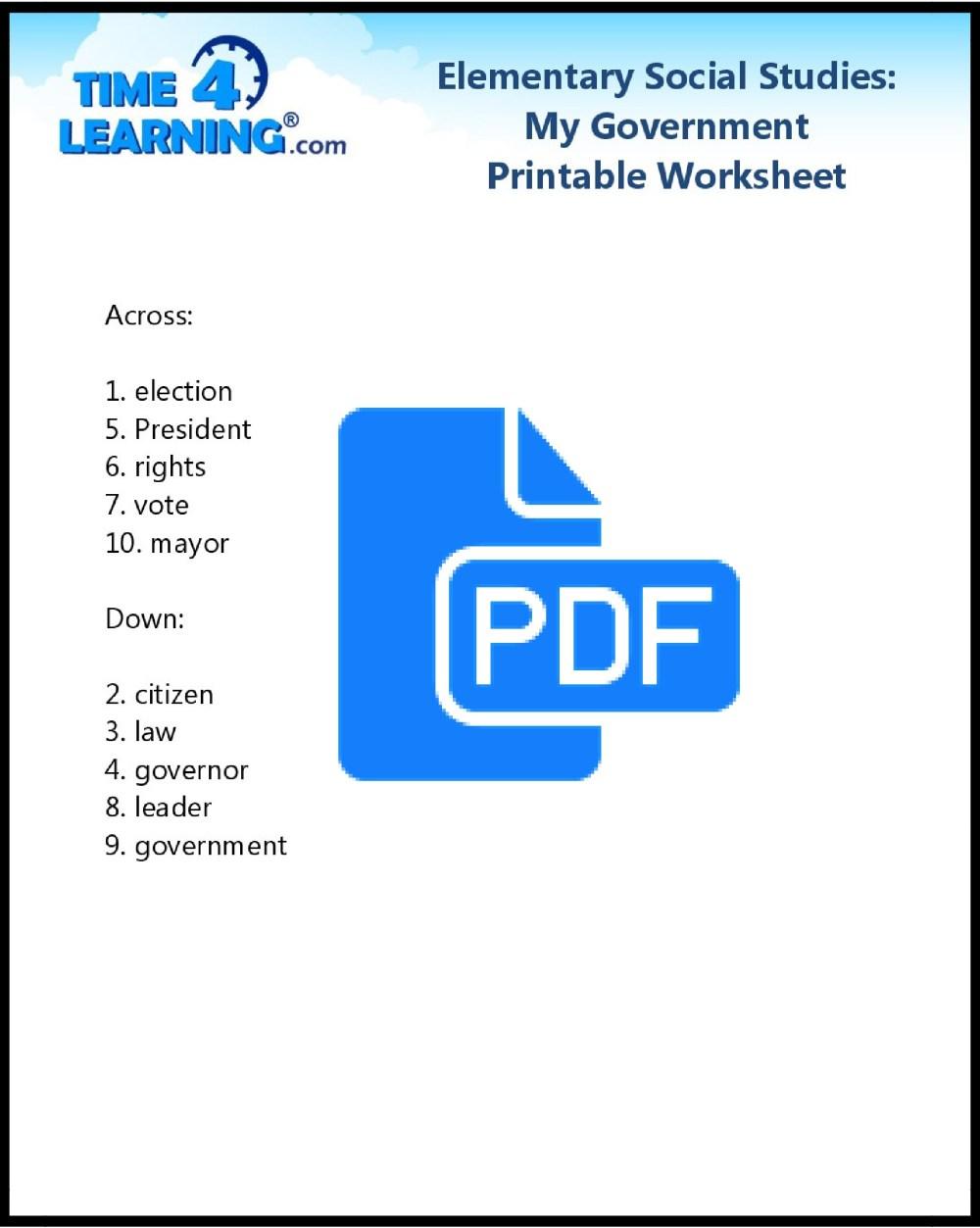 medium resolution of Free Printable: Elementary Social Studies Worksheet   Time4Learning