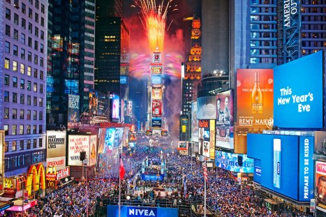 Картинки по запросу new year at times square