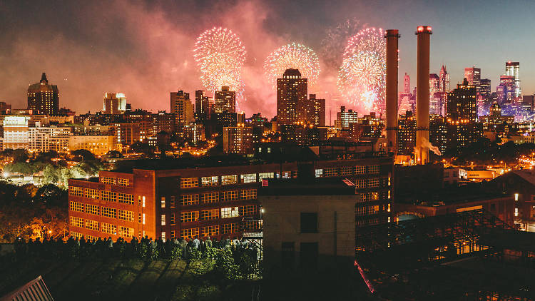 Fourth of July Fireworks at Brooklyn Grange