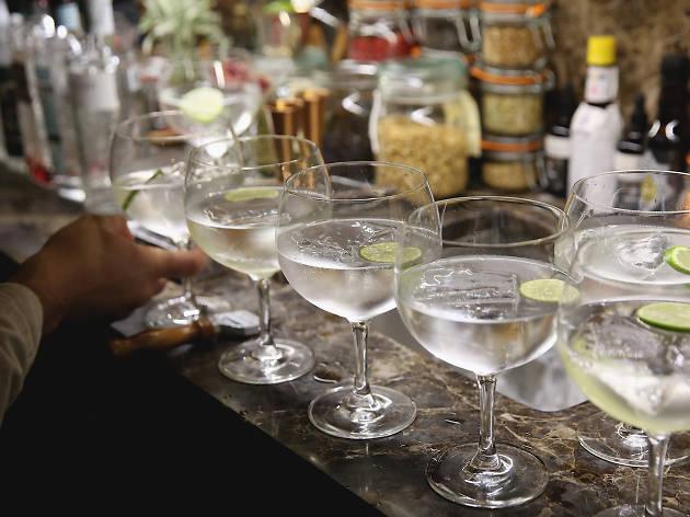 gin bars in london, mr fogg's gin parlour