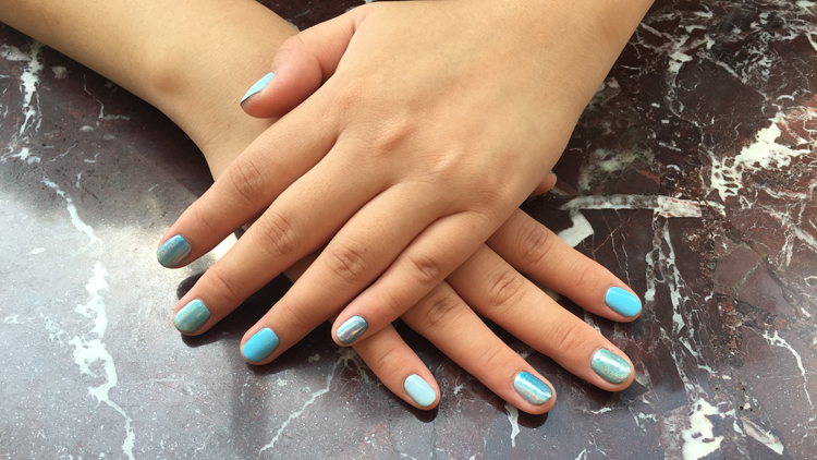 Clic Gel Manicure And Pedicure From 48 58 Respectively For An Additional Fee Get Nail Art Designs The Artistry Has Geometric