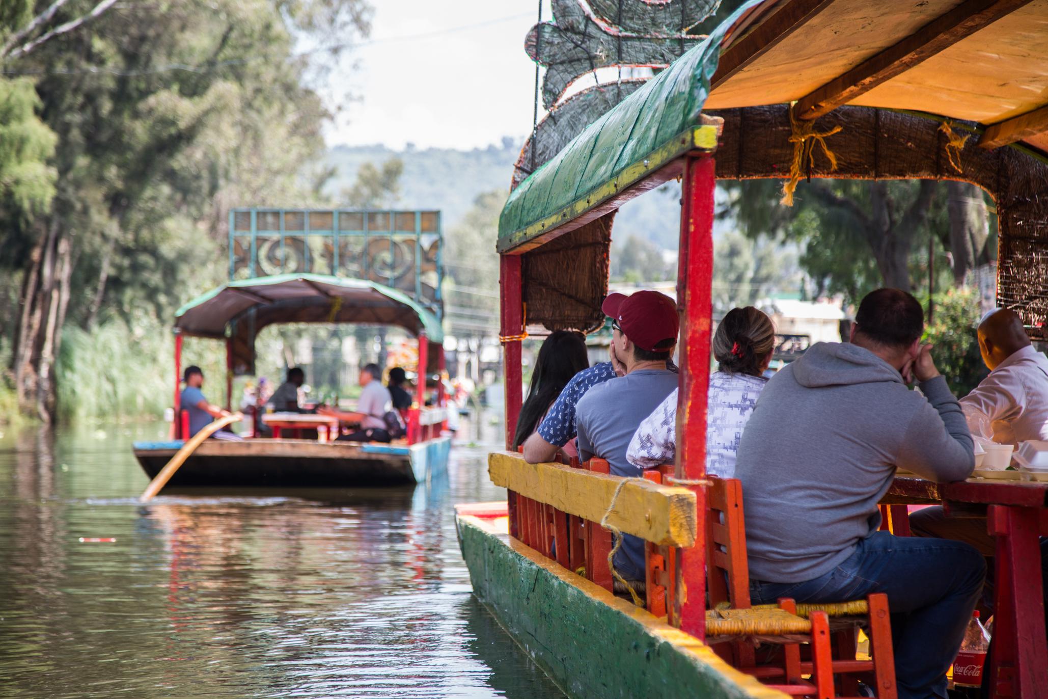 Embarcaderos y trajineras de Xochimilco
