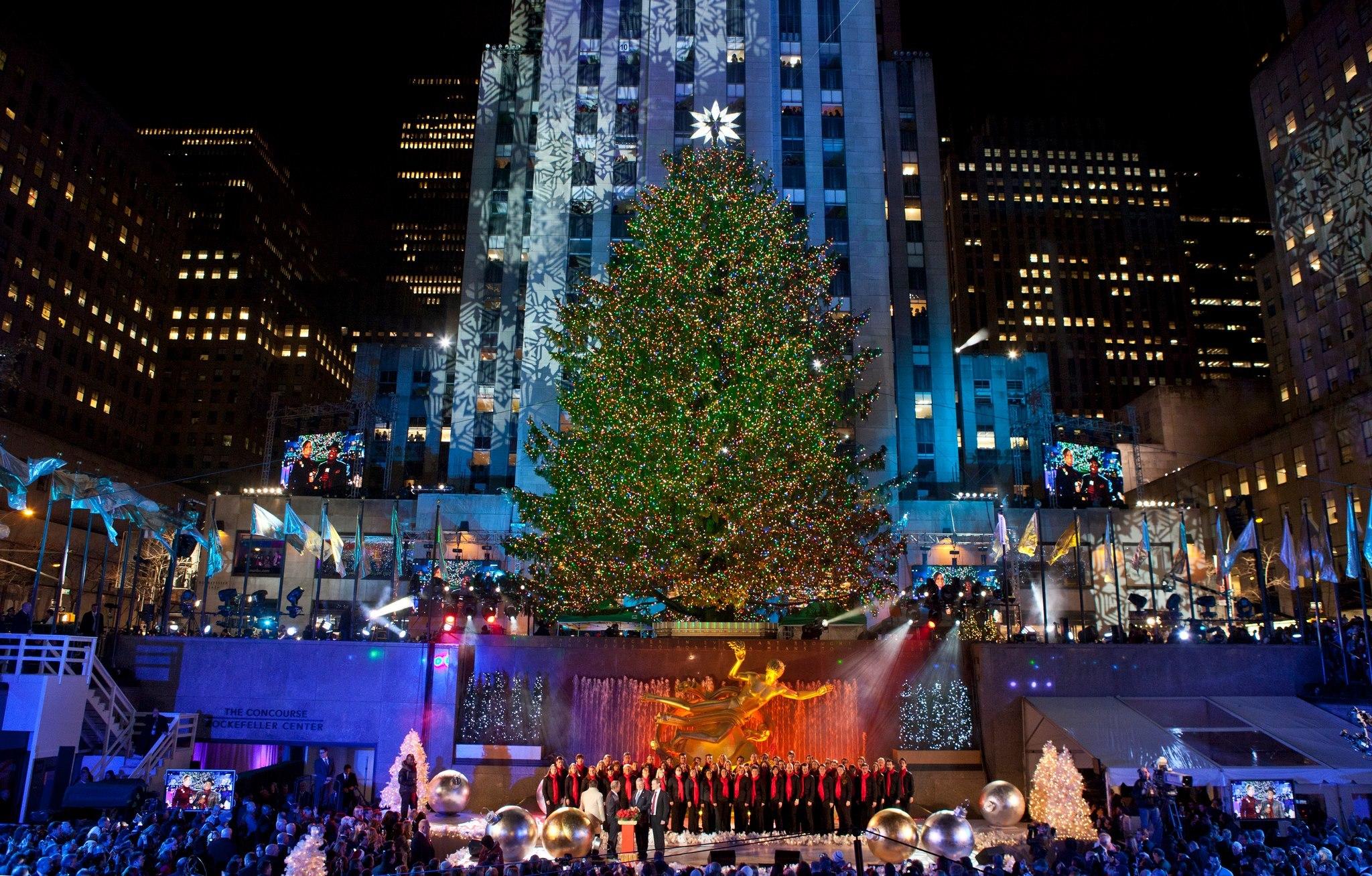 Nyc Christmas Tree Lighting 2019.New York Christmas Tree Lighting Live Stream