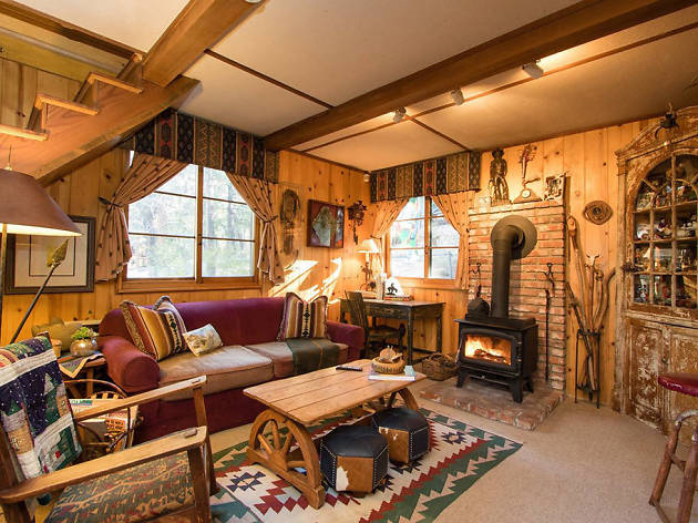 cosy living room with log burner modern no coffee table 15 cozy cabins on airbnb to spend winter cocooned in cabin for two idyllwild ca
