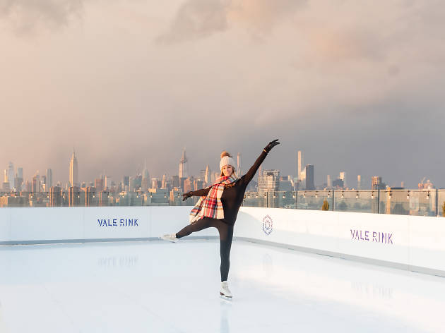 You Can Go Ice Skating On A Rooftop With A View Of The