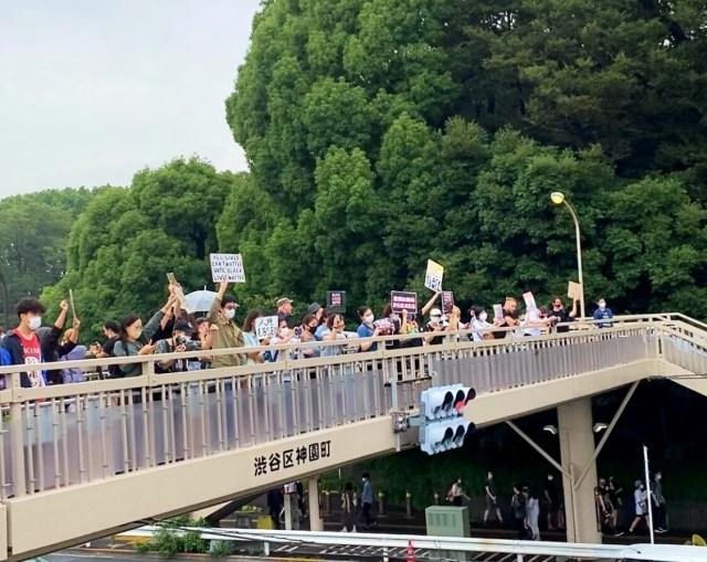 Black Lives Matter march Tokyo