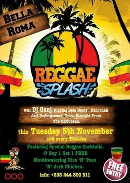 Bella Roma, Reggae Splash, Accra, Ghana