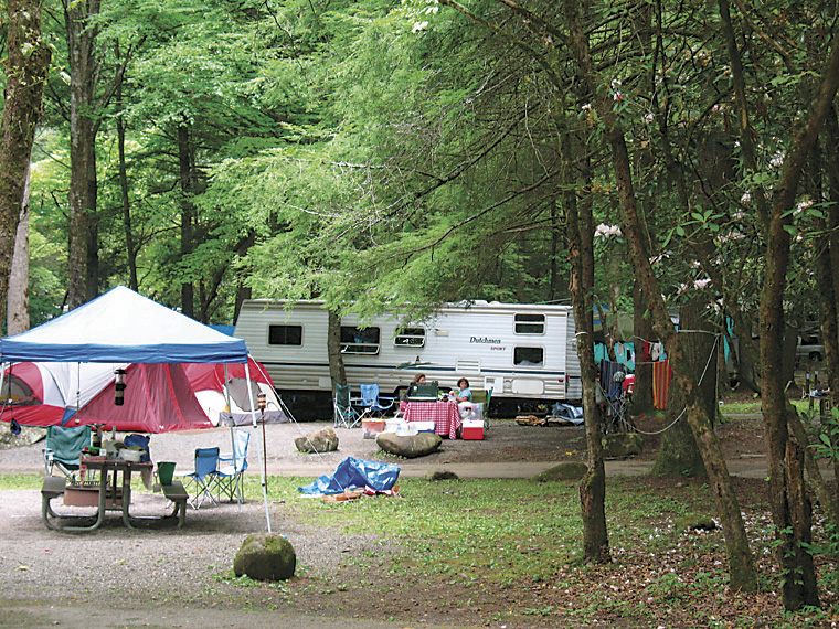The tents have water and electric at the site and nearby parking. Smokies Camp Showers Unfeasible Chattanooga Times Free Press