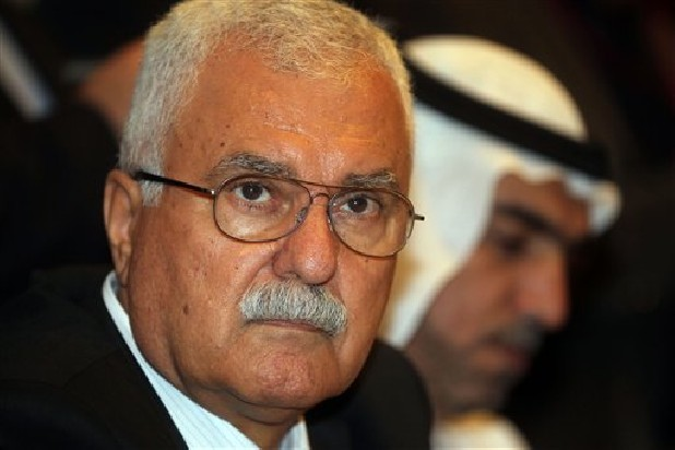 Syrian regime opponent George Sabra attends the election of the Executive Office of the Syrian National Council in Doha, Qatar, Friday, Nov. 9, 2012.