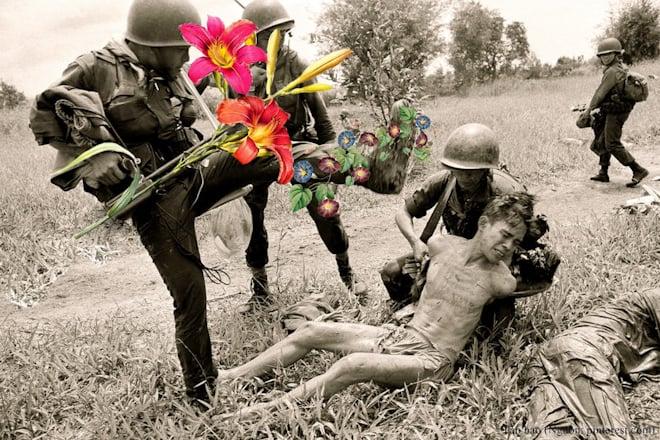 """Hình ảnh Triển lãm ảnh """"Hoa nơi chiến trường"""" bị tạm giữ số 1"""