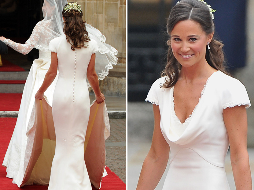 """Pippa Middleton Says Royal Wedding Dress Fit """"Too Well"""