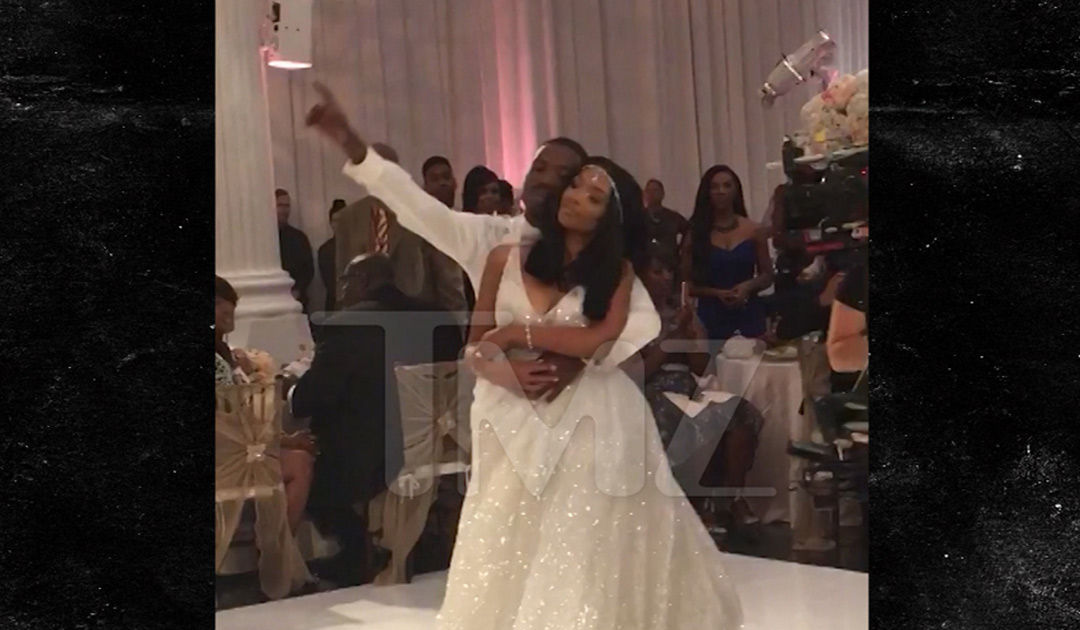 Brandy Kills Ray J and Princess Loves Wedding First Dance SongI  TMZcom