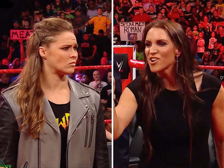 Steph McMahon hit Ronda Rousey with a straight-up MEAN personal attack on  'Monday Night RAW' — mocking the UFC star for the way she broke down after  her ...