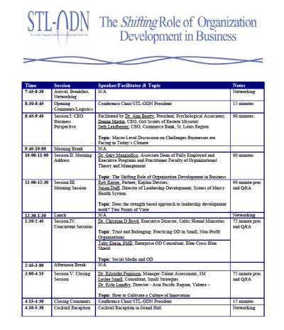 Organization Development, St. Louis, Organization Development Network agenda, Toby Elwin, Social Media Fight Flight or Friend