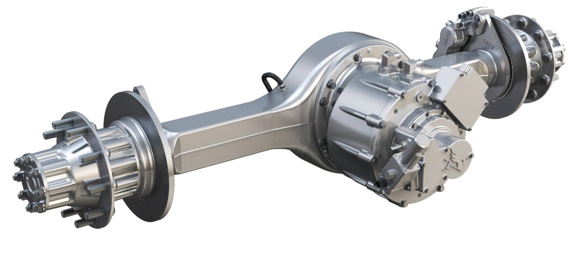 hight resolution of using a traditional axle housing with a motor mounted where the carrier and driveshaft input would normally go is an easy and economical first step toward
