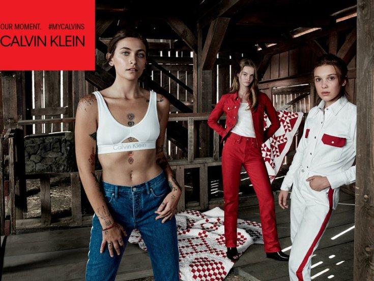 Paris Jackson and Millie Bobby Brown Follow Kardashians' Lead In New Calvin Klein Campaign