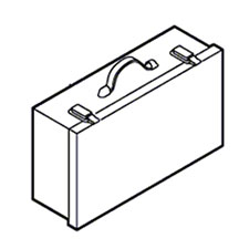 Bosch Parts 2 605 438 119 Carrying Case GRAY For Bosch