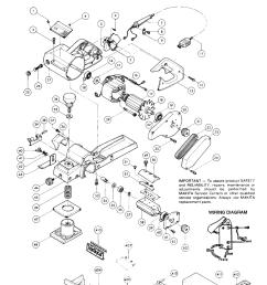 makita 1100 parts schematic [ 1000 x 1369 Pixel ]
