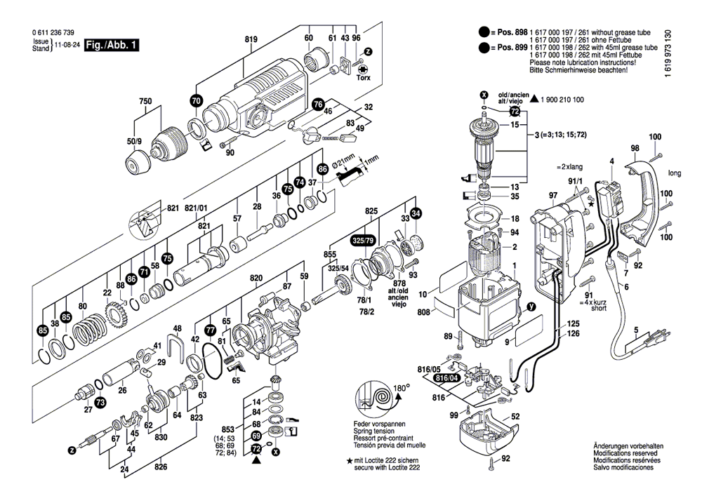 Buy Bosch 11236VS Rotary Hammer 1-1/8 Inch SDS-plus