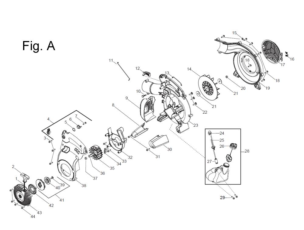Buy Husqvarna 125B Type-1 Replacement Tool Parts