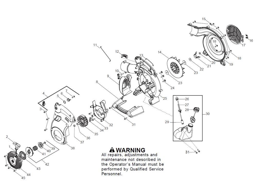 Buy Husqvarna 125BVX Type-1 Replacement Tool Parts