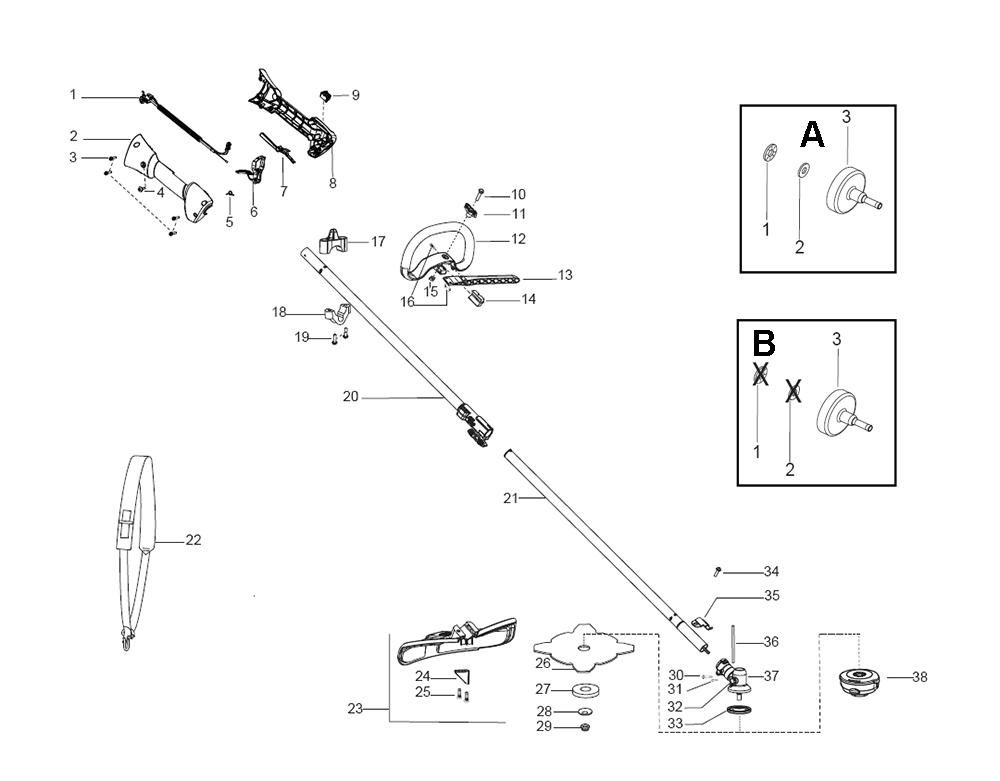 Buy Husqvarna 128 DJX-(5775038-01) Replacement Tool Parts