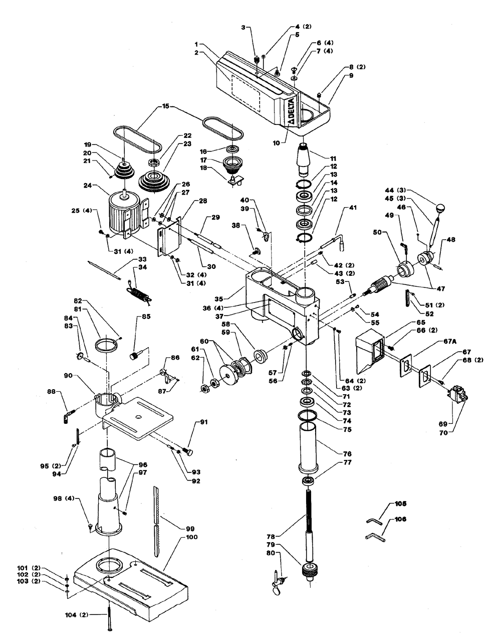 medium resolution of solved need a manual for a dayton 4cy85a drill press fixya