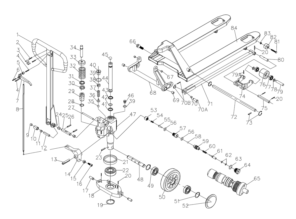 Diagram Electric Pallet Truck