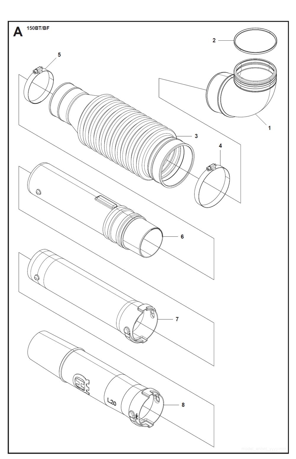 Buy Husqvarna 150BT (5228461-01) Replacement Tool Parts
