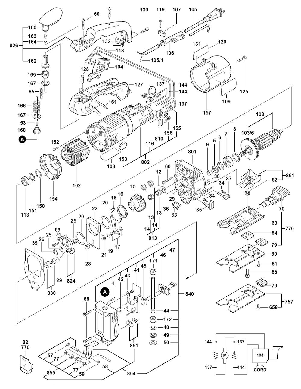 Buy Bosch 1587AVSK VS Orbital Jigsaw w/ Tool-Free Blade